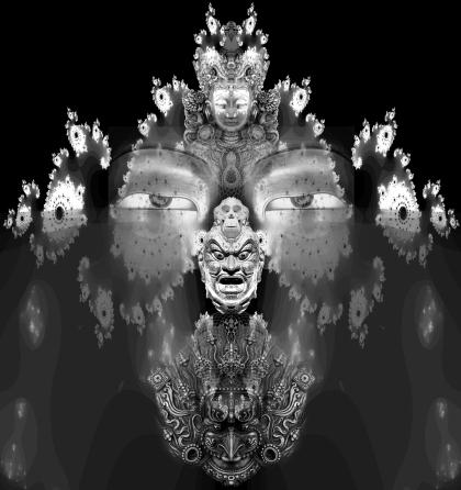 buddha totem artwork by jamie macpherson 2011