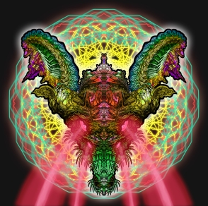 dragon with lasers artwork by jamie macpherson 2012