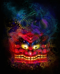 tri mask artwork by jamie macpherson 2012
